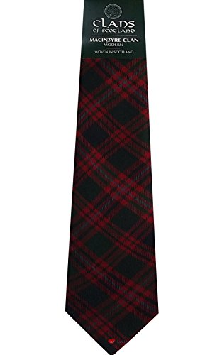 I Luv Ltd MacIntyre Clan 100% Wool Scottish Tartan Tie
