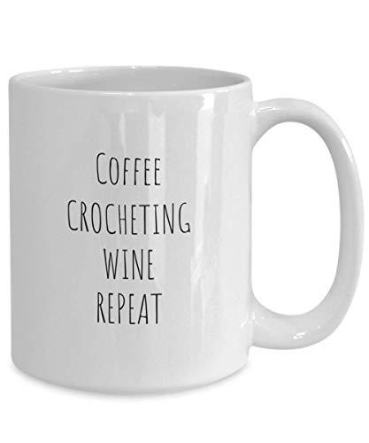 N\A Taza Crochet Café Crochet Wine Repeat