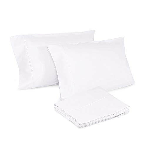 Whisper Organics Pillow Cases - 100% Organic Cotton Pillow Cases - Envelope Enclosure Type Pillowcase Set of 2-300 Thread Count Sateen Weave - GOTS Certified, White Color (Queen Size)