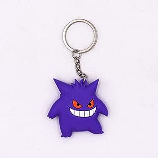 MANGMOC 4-7Cm 5 Style New Keychain Monster Key Holder Go Key Ring Pendant 3D Mini Cubone Porygon Gengar Ponyta Abra Cool Must Haves Gift Tags Girl S Favourite Superhero Coloring Unboxing Kit