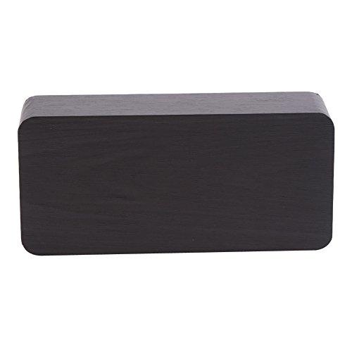 Zyyini Led Nachttischuhr, Holz Digital Art Wecker mit Temperaturanzeige, geeignet für die Dekoration auf dem Nachttisch oder Schreibtisch(#2)