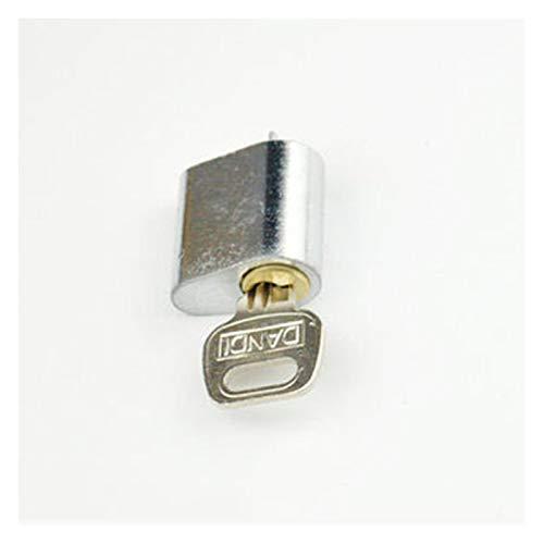 QXYOGO Bombin Cerradura Cerradura de Puerta Puerta de núcleo de Cobre Cerradura Corta Corazón Corazón Cerradura de Puerta de Bloqueo Cilindro de Bloqueo de corazón 5 (Color : 2)