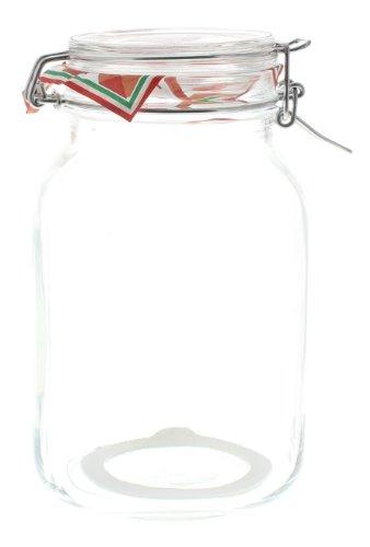 Bormioli - Tarro Grande Almacenamiento Frasco Tarro de Cristal con Cierre de Correa para 2 litros