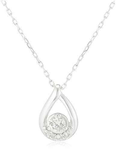 4℃(ヨンドシー)ダイヤモンド K10ホワイトゴールド(WG)ネックレス 111826123207
