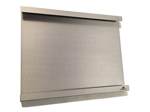 Supporto, telaio, montaggio a muro per iPad 2, 3, e 4, con o senza guscio protettivo sottile. Alluminio esterno e interno. Ideale in cucina o su una scrivania.(PENNELLO ALLUMINIO)