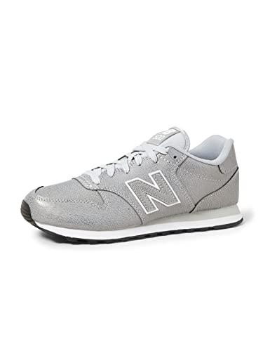 New Balance Damen 500 Sneaker, Silber (Metallic Silver Metallic Silver), 41 EU