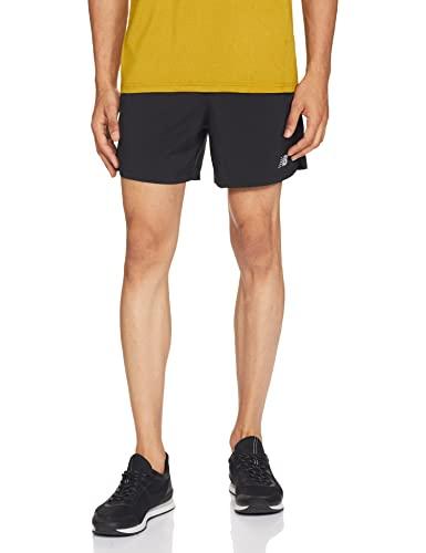 New Balance Men's Accelerate 5 Inch Short, Black , Medium