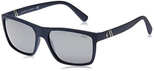 Polo 0PH4133 Gafas de sol, Rectangulares, 59, Matte Navy Blue