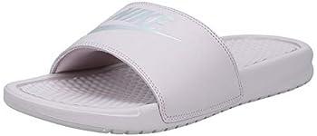Nike Women s Benassi Just Do It Sandal Particle Rose/Metallic Silver 8 Regular US