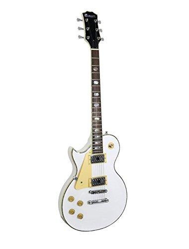 Set 2 x Guitarra eléctrica METEOR HIT para zurdos, blanco - 2...