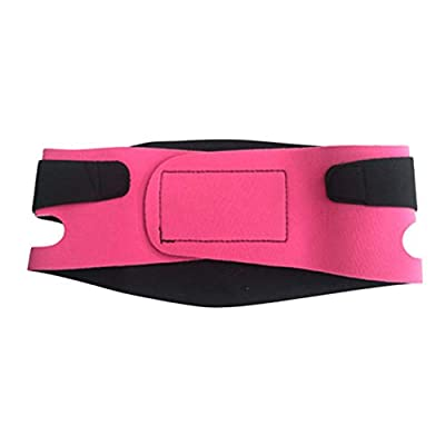 Beaupretty Face Lift Mask Small V Face Bandage Facial Slimming Mask Reducing Double Chin Weight Loss Face Belts Thin Masseter Muscle Chin Strap (Pink)
