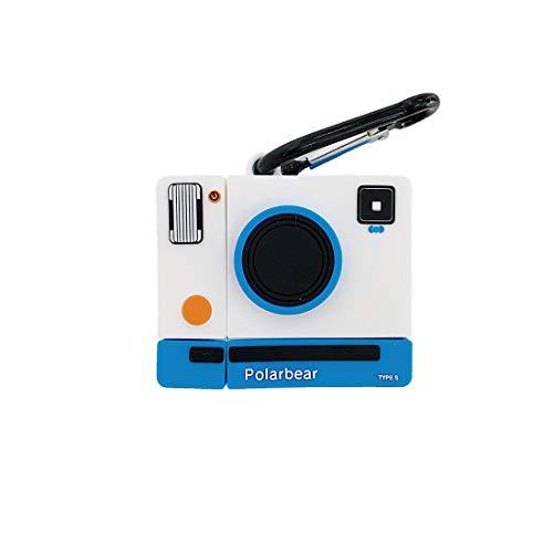 ZHYLIN - Custodia per Airpods Pro, a forma di macchina fotografica, in morbido silicone, a prova di...