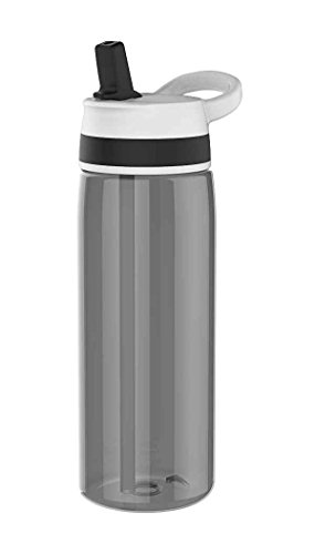 Zak Sprint Trinkflasche mit Strohhalm 75 cl schwarz