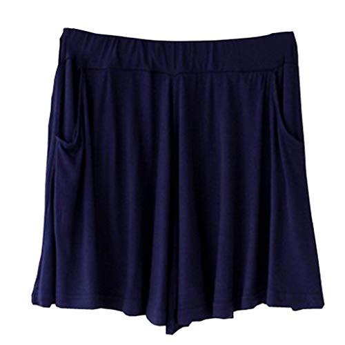 Weilov Lady Taille Haute Femmes Yoga Baggy Sport Shorts de Course Fitness Pantalon Décontracté Confortable Tenue décontractée Running Workout Sportswear