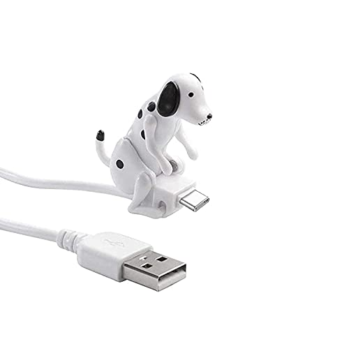 HJIAO Stray Dog Charging Cable, Dog Toy Smartphone Usb Cable Charger, humping dog phone charger, for Iphone,Android,Type-C Phones (White, Type-c)
