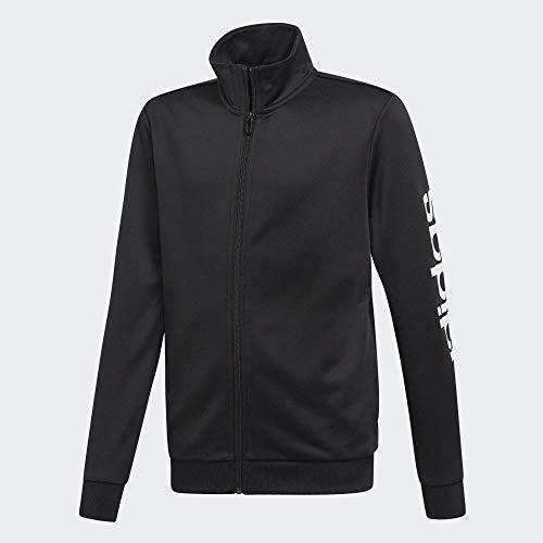 adidas Jungen Polyester Trainingsanzug, Black/White, 152