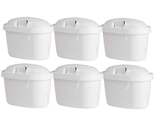 6-Pack Wasserfilter Kartuschen kompatibel BRITA MAXTRA & MAXTRA Plus Marella Mavea Anna Duomax Aluna Cool Navelia Elemaris Optimax Fjord BWT Bosch Tassimo Filtrino Cloer PearlCo