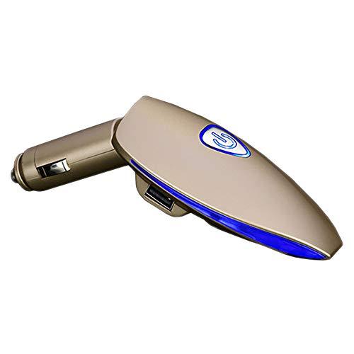 Ambientador para coche con 2 puertos USB, ionizador de aire para coche, elimina el polvo, polen, humo, malos olores, ideal para caravanas de autocaravanas y caravanas