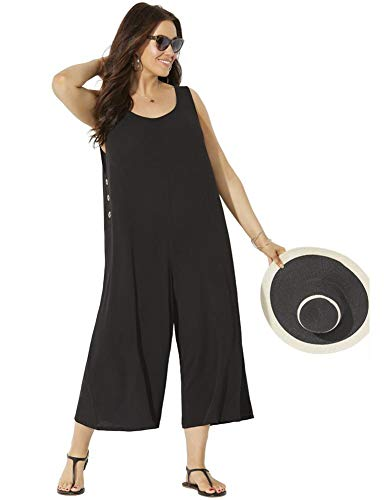 Swimsuits For All Women's Plus Size Adriana Jumpsuit 22 Black