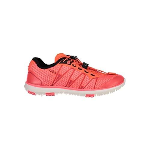 CMP Chaussures de Sport Atlas Clair WMN Fitness Chaussures Rouge Respirant Léger - C649 Rouge Fluo, 38 EU
