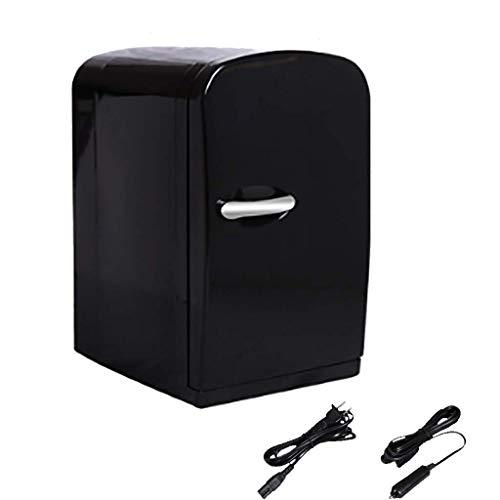 GuoEY Mini Refrigerador para automóvil 12V Refrigerador portátil para automóvil Refrigerador Refrigerador Calentador AC/DC Portátil para Viajes al Aire Libre Negro (6 litros)