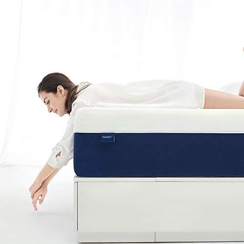Queen Mattress, Molblly 8 inch Gel Memory Foam Mattress with CertiPUR-US Bed Mattress in a Box for Sleep Cooler & Pressure Relief, Queen Size