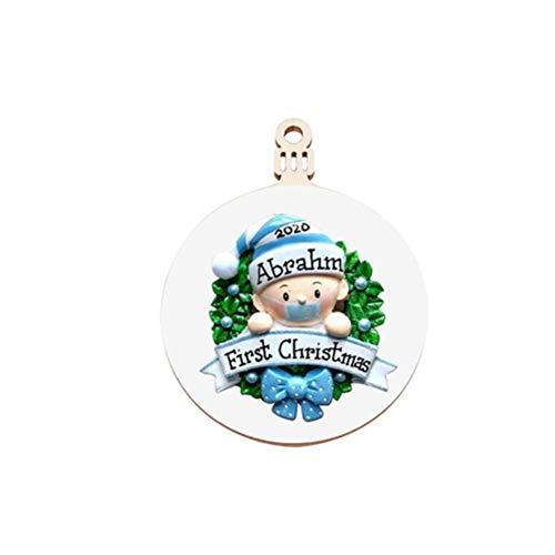 Bireegoo - Adorno para árbol de Navidad (6,9 x 8,9 mm)