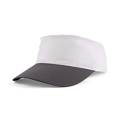 MISSION Cooling Stretchy Visor- Lightweight, No Slip Band, UPF 50- White