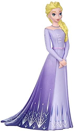 Bullyland 13510 - Set di figure di gioco, Walt Disney, Frozen 2, Elsa con vestito viola, alto circa 10 cm, figura dipinta a mano, senza PVC, per bambini per il gioco d'immaginazione