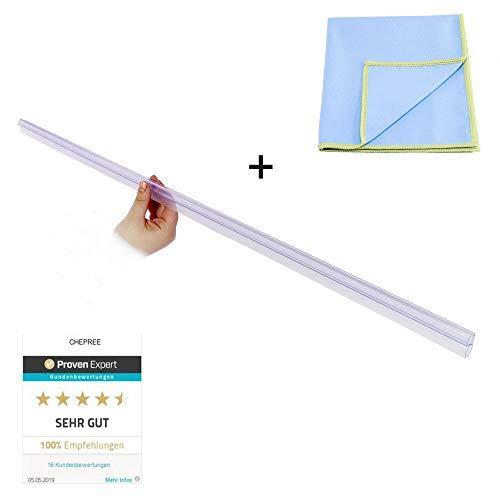 Premium Universal Duschkabinen Dichtung inkl. Mikrofaser Poliertuch | Duschdichtung für 6mm, 7mm, 8mm Glasdicke | schimmelbeständigen Materialien