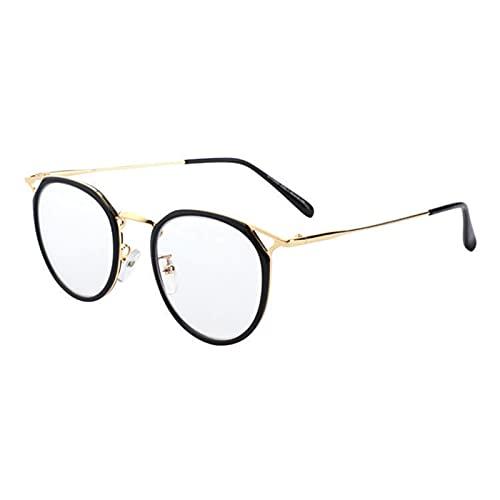 Gafas de bloqueo de luz azul lindo anti ojo tensión moda marco de metal gafas para lectura juego computadora