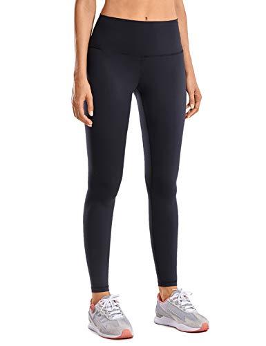 CRZ YOGA Cintura Alta Leggings Deportivo de Mujer Yoga Pantalón con Bolsillo-71cm Negro - 71cm 38