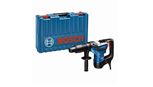 Bosch Professional Bohrhammer GBH 5-40 D (SDS Max, inkl. Zusatzhandgriff, Fetttube, Maschinentuch, im Koffer)