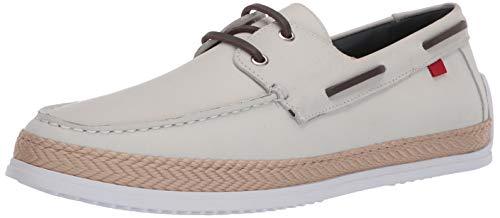 MARC JOSEPH NEW YORK Herren Leder Luxus Deck Schuh mit Seil-Detail Boot, Weiá (Weiße Nappa), 42 EU