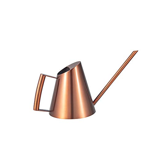 IMEEA Small Watering Can for Indoor Plants Houseplant Succulents Bonsai Office Desk Stainless Steel Mini Watering Can with Long Spout 11oz/300ml (Copper Color)