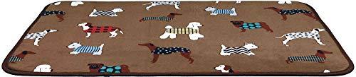 Trixie - Materassino FunDogs, 90 x 68 cm, Colore: Marrone