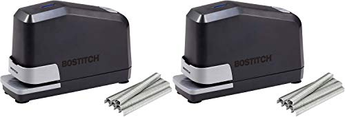 Bostitch Impulse 45 Sheet Electric Stapler Value Pack - Double Heavy Duty, No-Jam with Trusted Warranty Guaranteed by Bostitch, Black (B8E-Value) - 2 Pack