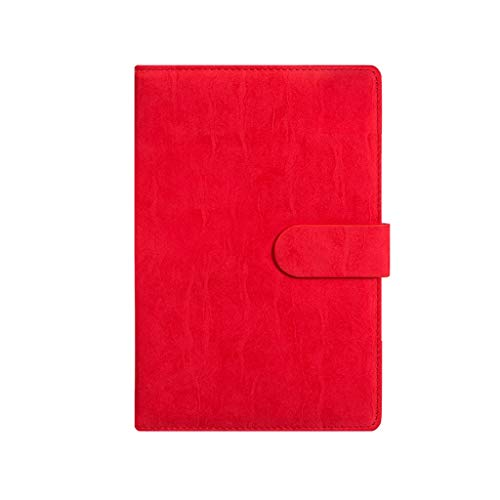 XXT Cuaderno de notas de estudio simple grueso y exquisito cuaderno de oficina (color: rojo, tamaño: 14,5 x 21,8 cm)