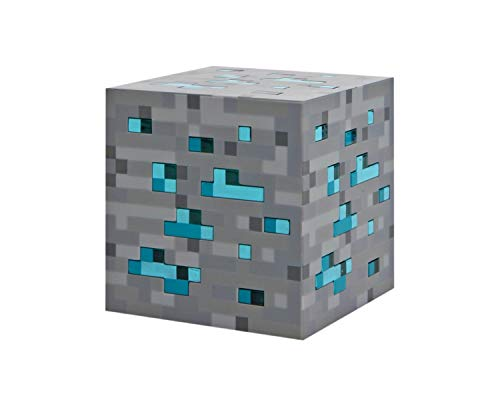 ThinkGeek Minecraft Light-Up Blue Stone Diamond Ore - Sure to Keep Pigmen Away