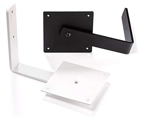 Nubert WH-6 Wandhalterset | Wandbefestigung für Lautsprecher von Nubert bis 12 kg | stabile Möglichkeit zur Wandmontage | Original Zubehör von Nubert | Weiß | 2 Stück