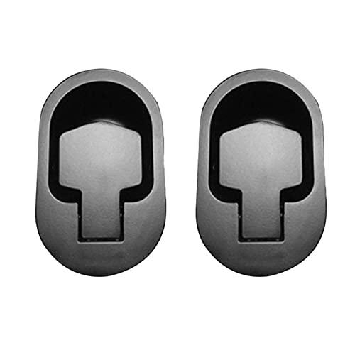MSRRY 2 unids Negro Metal Sofá Sofá Reclinable Lanzamiento Sillón Ajustable Silla Sofá Sofá Sofá Liberación Palanca Manejo Gabinete Tiradores Reemplazo (Color : Black)
