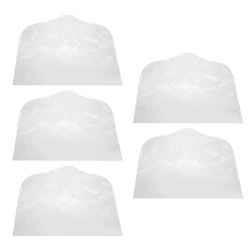 DOITOOL - Grucce trasparenti per vestiti, coprispalle e antipolvere, 5 pezzi, per abiti, cappotti, giacche senza grucce (45 x 30 cm, adatte per bambini a mezza lunghezza)
