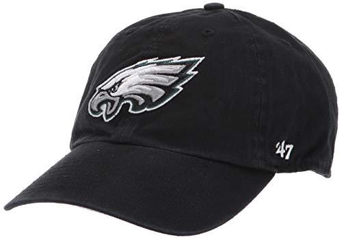 '47 NFL Philadelphia Eagles Herren Clean Up Cap, Black, One Size