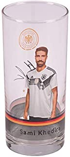Origineel DFB verzamelglas 2018 voetbal Duitsland drinkglas bierglas sapglas, motief: nr. 7 Sami Khedira