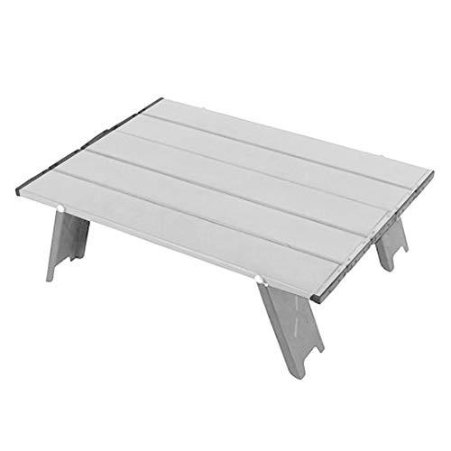WERTAZ Klappbarer Camping-Tisch Tragbarer Aluminium-Strandtisch, zusammenklappbarer Mini-Klapp-Picknicktisch Light Compact für Camping, Picknick, Outdoor, Reisen, Strand