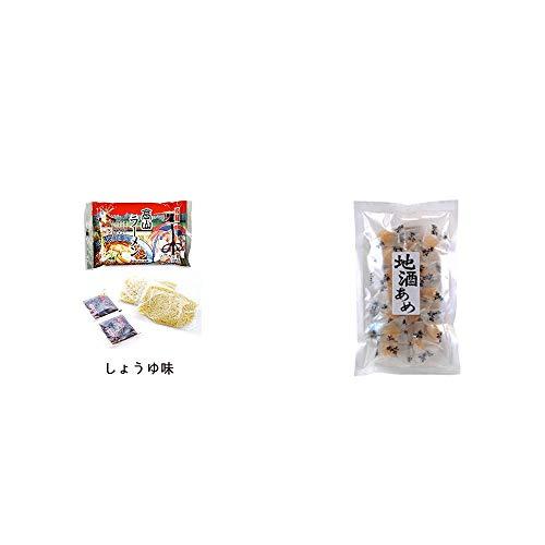 [2点セット] 飛騨高山ラーメン[生麺・スープ付 (しょうゆ味)]・地酒あめ(15粒)