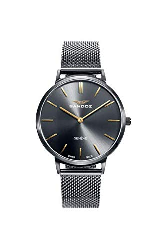 Sandoz - Reloj Acero IP Gun Brazalete Sra Classic & Slim Sa - 81350-57