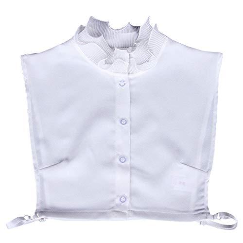 YAKEFJ Stehkragen Abnehmbare Dicky Stehkragen Half-Shirt Bluse Choker Halskette Kragen für Mädchen und Frauen