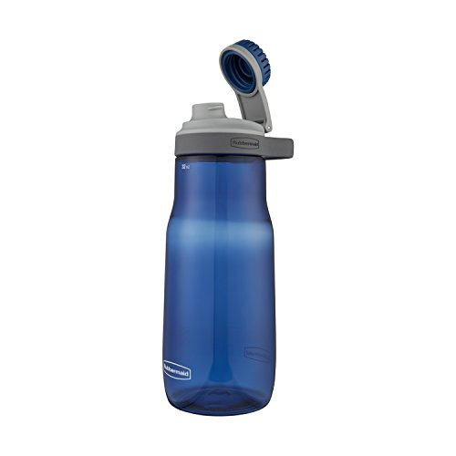Rubbermaid Leak-Proof Chug Water Bottle, 32 oz, Nautical Blue