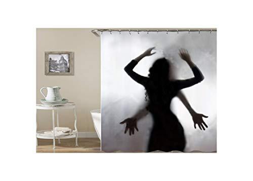 Beydodo 3D Lustiger Duschvorhang 180x180 Frau Nackt Duschvorhang Antischimmel